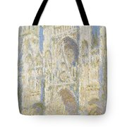 Rouen Cathedral West Facade Tote Bag by Claude Monet