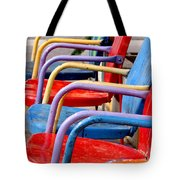 Route 66 Chairs Tote Bag by Art Block Collections