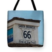 Route 66 - End Of The Trail Tote Bag by Kim Hojnacki