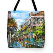 Royal At Pere Antoine Alley Tote Bag by Dianne Parks