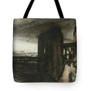 Ruins In A Landscape Tote Bag by Victor Hugo