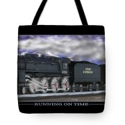 Running On Time Tote Bag by Mike McGlothlen