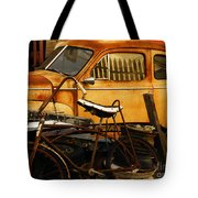 Rust Race Tote Bag by Joe Jake Pratt