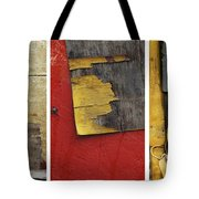 Rustic Industrial Print Times 3 Tote Bag by Anahi DeCanio
