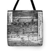 Rustic Old Colorado Barn Door And Window Bw Tote Bag by James BO  Insogna
