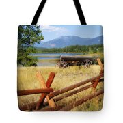 Rustic Wagon Tote Bag by Marty Koch