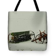 Rusting In The Snow Tote Bag by Jeff Swan