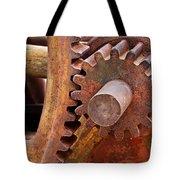 Rusty Metal Gears Tote Bag by Phyllis Denton