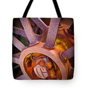 Rusty Spokes Tote Bag by Inge Johnsson