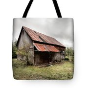 Rusty Tin Roof Barn Tote Bag by Gary Heller