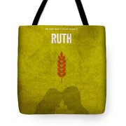 Ruth Books Of The Bible Series Old Testament Minimal Poster Art Number 8 Tote Bag by Design Turnpike