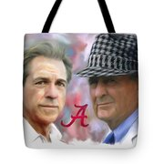 Saban And Bear Tote Bag by Mark Spears