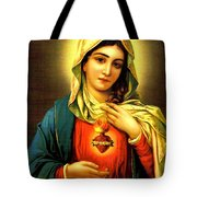Sacred Heart Tote Bag by Unknown