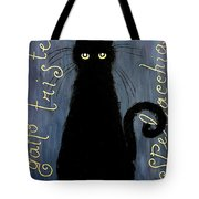 Sad and ruffled cat Tote Bag by Donatella Muggianu
