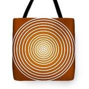 Saffron Colored Abstract Circles Tote Bag by Frank Tschakert