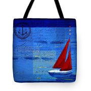 Sail Sail Sail Away - j173131140v5c2 Tote Bag by Variance Collections