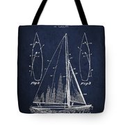 Sailboat Patent Drawing From 1927 Tote Bag by Aged Pixel