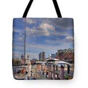 Sailboats In Constitution Marina - Boston Tote Bag by Joann Vitali