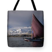 Sailing on Lake Titicaca Tote Bag by James Brunker