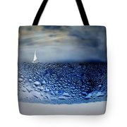 Sailing The Liquid Blue Tote Bag by Joyce Dickens