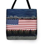 Sailors And Marines Display Tote Bag by Stocktrek Images