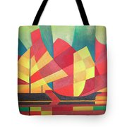 Sails And Ocean Skies Tote Bag by Tracey Harrington-Simpson