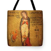 Saint Catherine Of Alexandria Altar Tote Bag by Philip Ralley