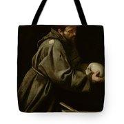 Saint Francis in Meditation Tote Bag by Michelangelo Merisi da Caravaggio