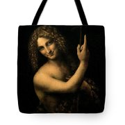 Saint John the Baptist Tote Bag by Leonardo da Vinci