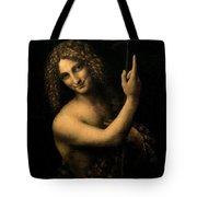 Saint John The Baptist Tote Bag by Leonardo da Vinci