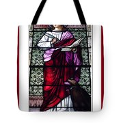 Saint John The Evangelist Stained Glass Window Tote Bag by Rose Santuci-Sofranko