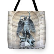 Saint Michael The Archangel In Paris Tote Bag by Carol Groenen