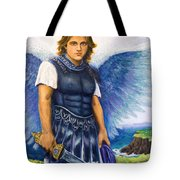 Saint Michael The Archangel Tote Bag by Patty Kay Hall