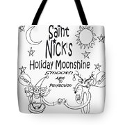 Saint Nicks Holiday Moonshine Tote Bag by Anthony Falbo