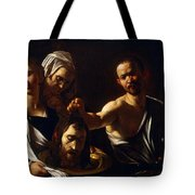 Salome Receives Head Of John The Baptist Tote Bag by Michelangelo Merisi da Caravaggio