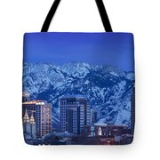 Salt Lake City Skyline Tote Bag by Brian Jannsen