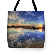Salt Pans Of Ludo Tote Bag by English Landscapes