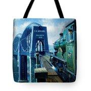 Saltash Bridge. Tote Bag by Mike  Jeffries
