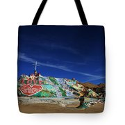 Salvation Mountain Tote Bag by Laurie Search