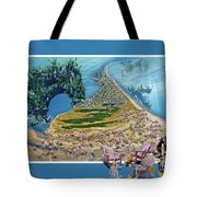 Sam And Topsail's Ghost Pirates  Tote Bag by Betsy Knapp