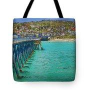 San Clemente Pier Tote Bag by Joan Carroll