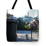 San Francisco Coit Tower At Levis Plaza 5D26213 Tote Bag by Wingsdomain Art and Photography