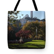 San Francisco Coit Tower At Levis Plaza 5D26217 Tote Bag by Wingsdomain Art and Photography