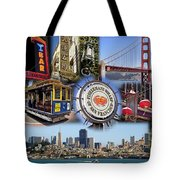 San Francisco Collage Tote Bag by Kelley King
