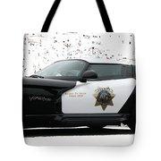 San Luis Obispo County Sheriff Viper Patrol Car Tote Bag by Tap On Photo