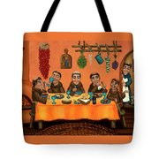 San Pascuals Table Tote Bag by Victoria De Almeida