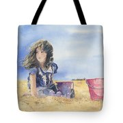 Sand Castle Dreams Tote Bag by Monte Toon