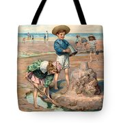 Sand Castles At The Beach Tote Bag by Unknown