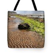 Sand Patterns On Robin Hoods Bay Beach Tote Bag by Deborah Benbrook