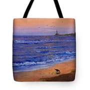 Sandpiper At Sunset Tote Bag by C Steele